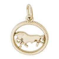 Rembrandt Taurus Charm, Gold Plated Silver