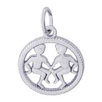 Rembrandt Gemini Charm, Sterling Silver