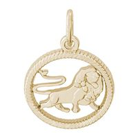 Rembrandt Leo Charm, 10K Yellow Gold