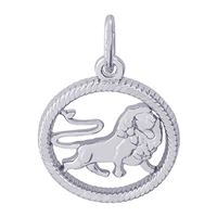 Rembrandt Leo Charm, Sterling Silver
