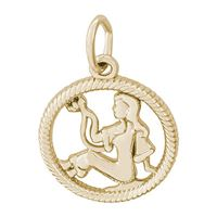 Rembrandt Virgo Charm, 10K Yellow Gold
