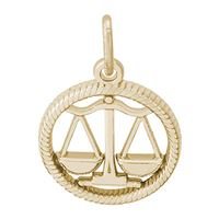 Rembrandt Libra Charm, Gold Plated Silver