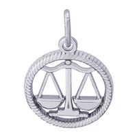 Rembrandt Libra Charm, Sterling Silver