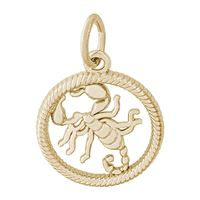 Rembrandt Scorpio Charm, Gold Plated Silver