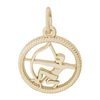 Rembrandt Sagittarius Charm, Gold Plated Silver