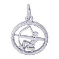 Rembrandt Sagittarius Charm, Sterling Silver