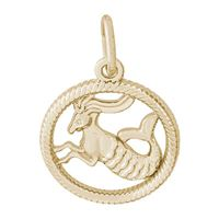 Rembrandt Capricorn Charm, 10K Yellow Gold