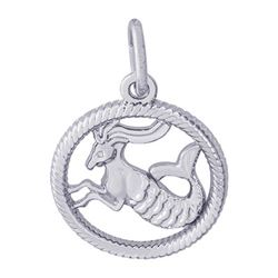 Rembrandt Capricorn Charm, Sterling Silver