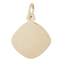 Rembrandt Small Disc Charm, Gold Plated Silver