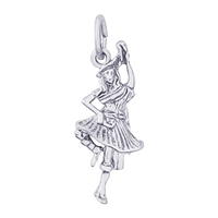 Rembrandt Highland Dancer Charm, Sterling Silver