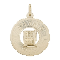 Rembrandt Atlantic City Charm, Gold Plated Silver