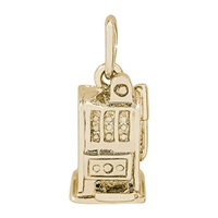 Rembrandt Slot Machine Charm, Gold Plated Silver