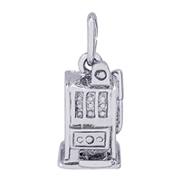 Rembrandt Slot Machine Charm, Sterling Silver