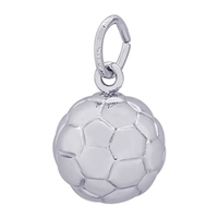 Rembrandt Soccer Ball Charm, Sterling Silver