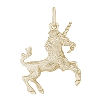 Rembrandt Unicorn Charm, Gold Plated Silver