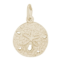 Rembrandt Small Sand Dollar Charm, Gold Plated Silver