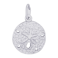 Rembrandt Small Sand Dollar Charm, 14K White Gold