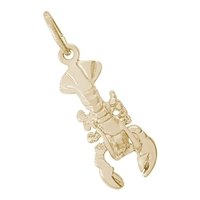 Rembrandt Lobster Charm, Gold Plated Silver