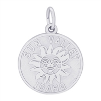 Rembrandt Sun Valley, Idaho Charm, Sterling Silver
