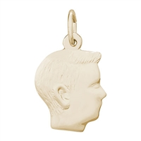 Rembrandt Boy Charm, Gold Plated Silver