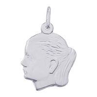 Rembrandt Girl Charm, Sterling Silver