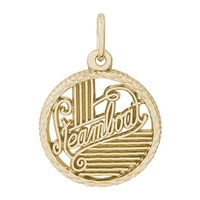 Rembrandt Steamboat Charm, Gold Plated Silver