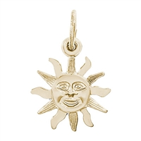 Rembrandt Sunburst Charm, 14K Yellow Gold