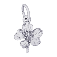 Rembrandt Hibiscus Charm, Sterling Silver