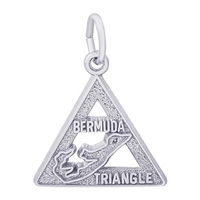 Rembrandt Bermuda Triangle Charm, Sterling Silver