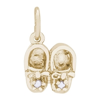 Rembrandt Baby Shoes Charm, Gold Plated Silver