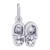 Rembrandt Baby Shoes Charm, Sterling Silver