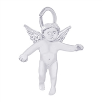 Rembrandt Angel Charm, Sterling Silver