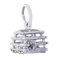Rembrandt Lobster Trap Charm, 14K White Gold