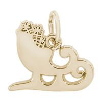 Rembrandt Sleigh Charm, Gold Plated Silver