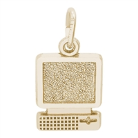 Rembrandt Computer Charm, Gold Plated Silver