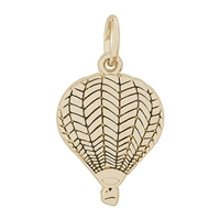 Rembrandt Hot Air Balloon Charm, Gold Plated Silver