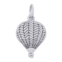 Rembrandt Hot Air Balloon Charm, Sterling Silver