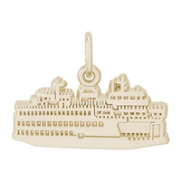 Rembrandt Washington State Ferry Charm, Gold Plated Silver