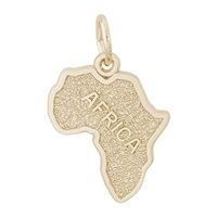 Rembrandt Africa Charm, Gold Plated Silver