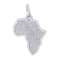 Rembrandt Africa Charm, Sterling Silver