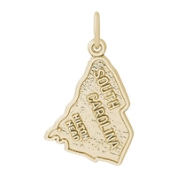 Rembrandt South Carolina Hilton Head Charm, Gold Plated Silver
