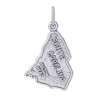 Rembrandt South Carolina Hilton Head Charm, Sterling Silver