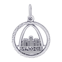 Rembrandt St. Louis Skyline Charm, Sterling Silver