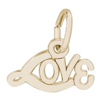 Rembrandt Love Charm, Gold Plated Silver