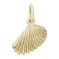 Rembrandt Shell Charm, Gold Plated Silver