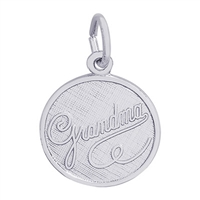 Rembrandt Grandma Charm, Sterling Silver
