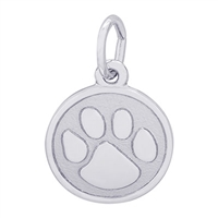 Rembrandt Paw Print Charm, Sterling Silver