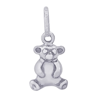 Rembrandt Bear Charm, Sterling Silver