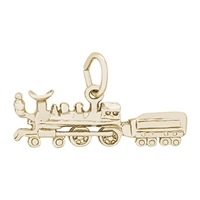 Rembrandt Train Charm, Gold Plated Silver