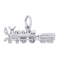Rembrandt Train Charm, Sterling Silver